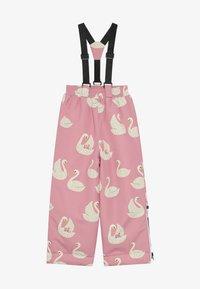 Småfolk - WINTER PANTS WITH SWAN - Snow pants - winter pink - 4