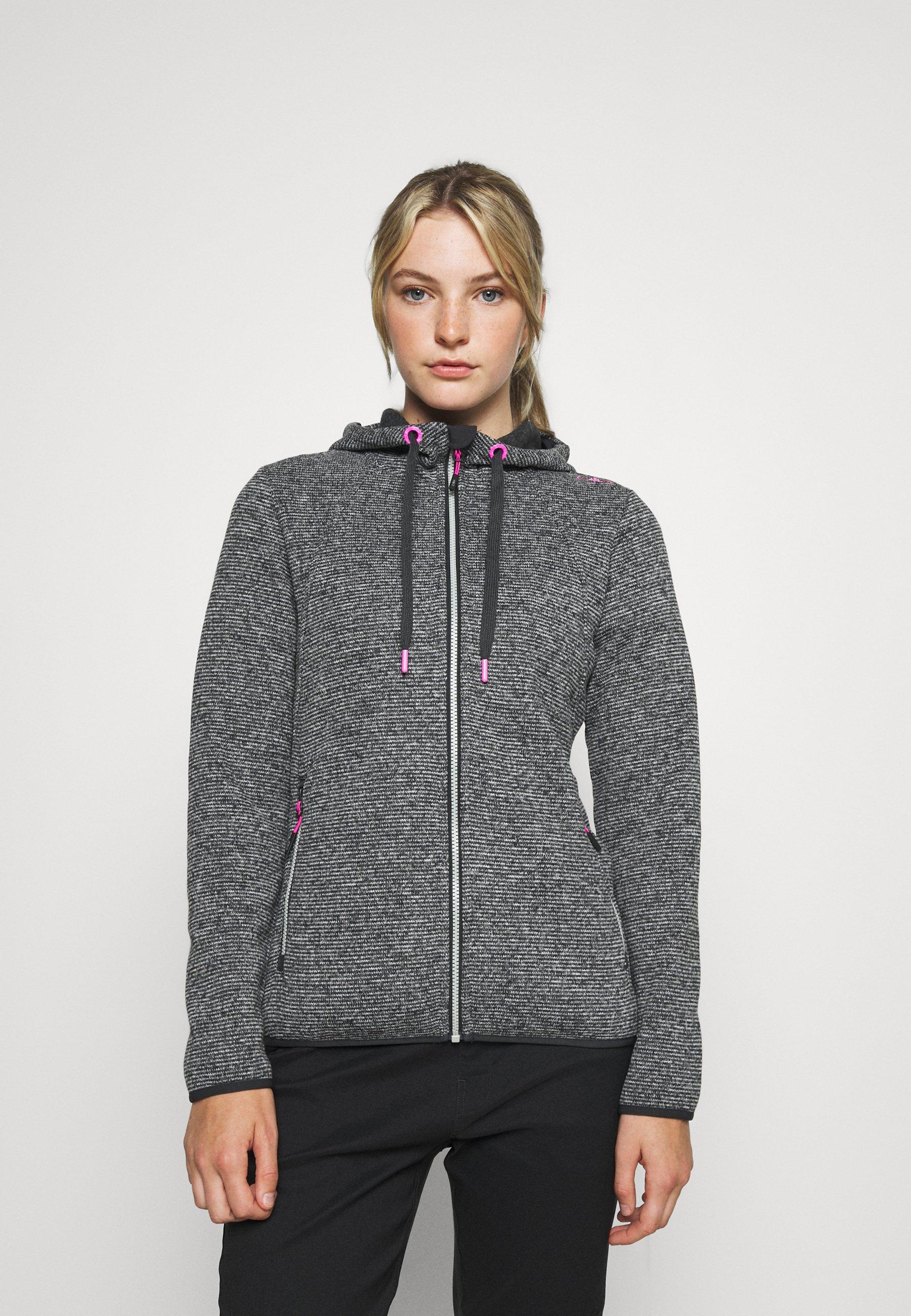 Women WOMAN JACKET FIX HOOD - Fleece jacket