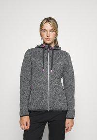 Campagnolo - WOMAN JACKET FIX HOOD - Fleece jacket - ghiaccio/graffite/nero - 0