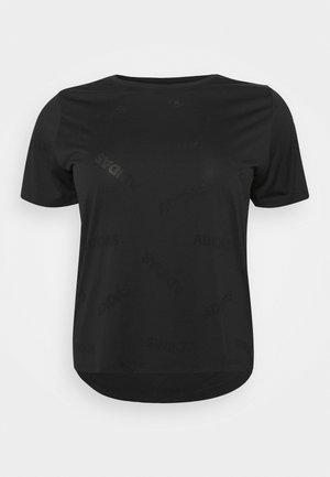 AEROKNIT TEE - Print T-shirt - black/white
