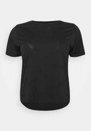 AEROKNIT TEE - Camiseta estampada - black/white