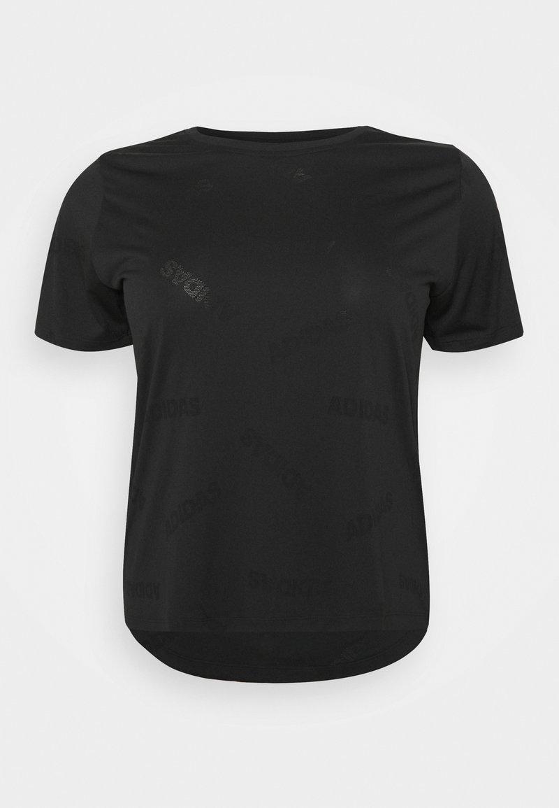 adidas Performance - AEROKNIT TEE - Print T-shirt - black/white
