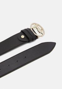 Trussardi - BELT OVALE SMOOTH - Belt - black - 2