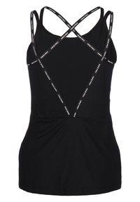 Nike Performance - ELASTIKA - T-shirt sportiva - black/metallic silver - 1