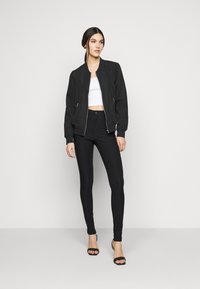 Noisy May Tall - NMSOLINE SOLID PANTS  - Kalhoty - black - 1