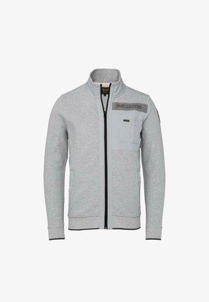 Zip-up hoodie - grey melee
