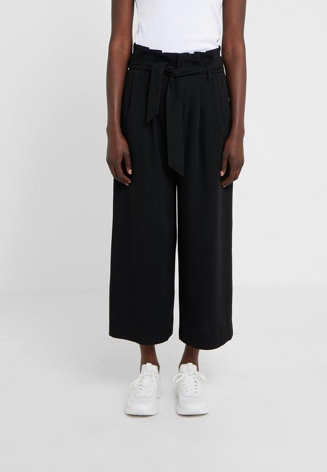 MEGAN - Spodnie materiałowe - black