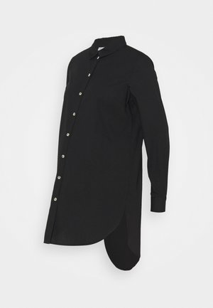 PCMNOMA LONG SHIRT - Button-down blouse - black