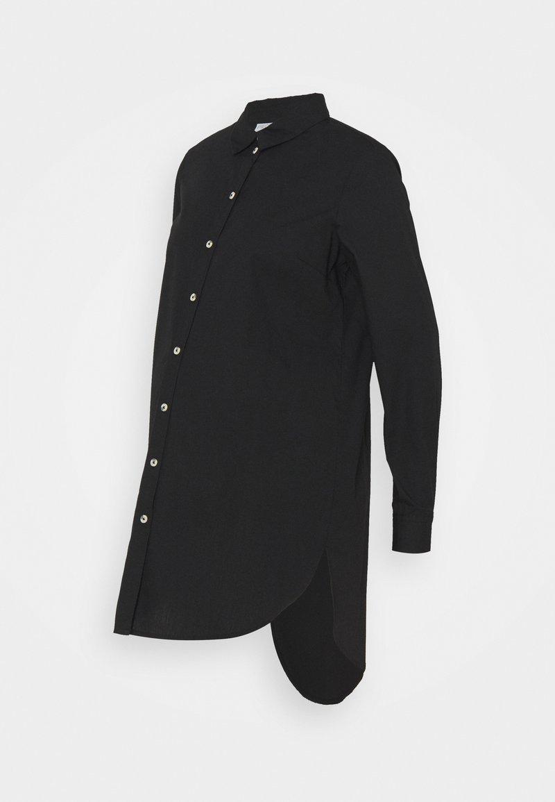 Pieces Maternity - PCMNOMA LONG SHIRT - Button-down blouse - black