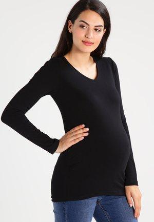 LAURE - T-shirt à manches longues - caviar|black