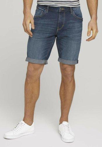 Denim shorts - dark stone wash denim