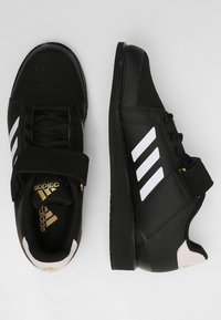 adidas Performance - POWER PERFECT 3 SHOES - Sports shoes - black/white/gold - 1