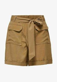 Selected Femme - TENCEL LYOCELL - Shorts - beige - 5