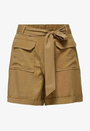 TENCEL LYOCELL - Shorts - beige