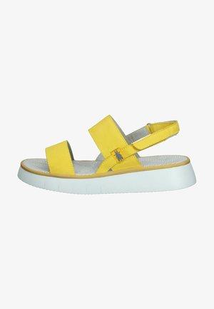 Sandalen met plateauzool - bright yellow