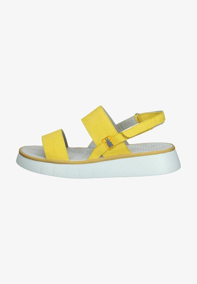 Sandales à plateforme - bright yellow