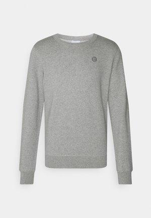 BASIC BADGE GOTS VEGAN - Sweatshirt - grey melange