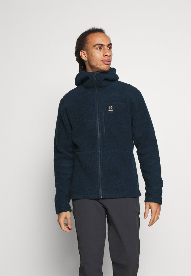 HOOD MEN - Fleece jacket - tarn blue