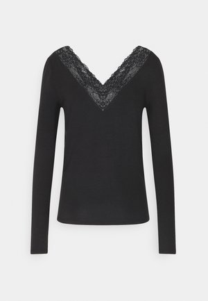 VMJAVA V NECK - Long sleeved top - black