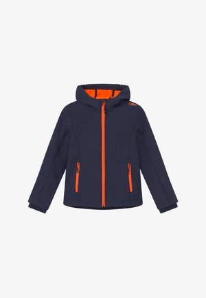 GIRL FIX HOOD - Softshelljas - blue/orange