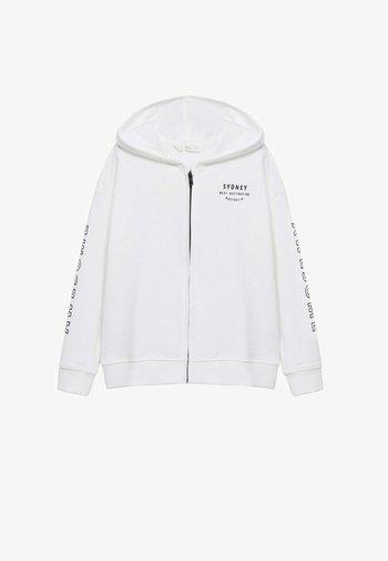Sweater met rits - gebroken wit