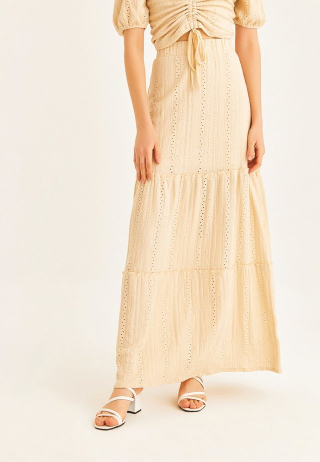Maxi skirt - beige