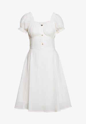 YASLELA OFF SHOULDER DRESS  - Skjortekjole - eggnog