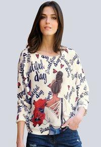 Alba Moda - Sweatshirt - off-white,marineblau - 0