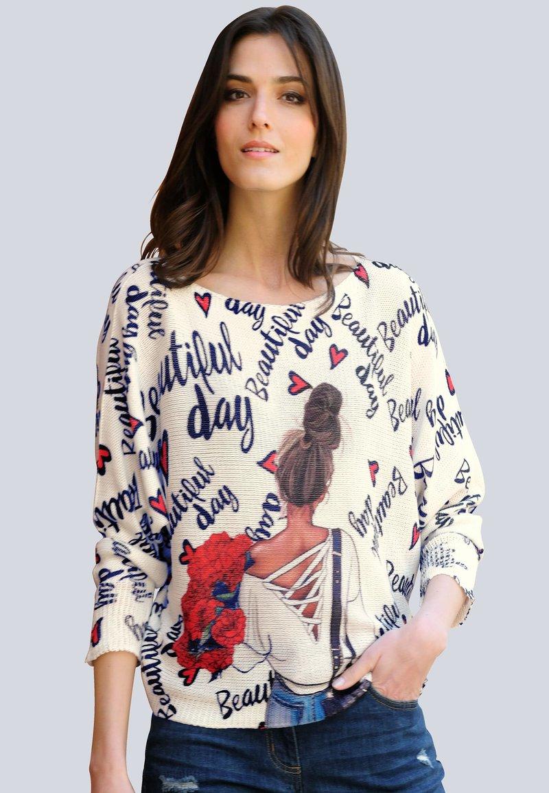 Alba Moda - Sweatshirt - off-white,marineblau