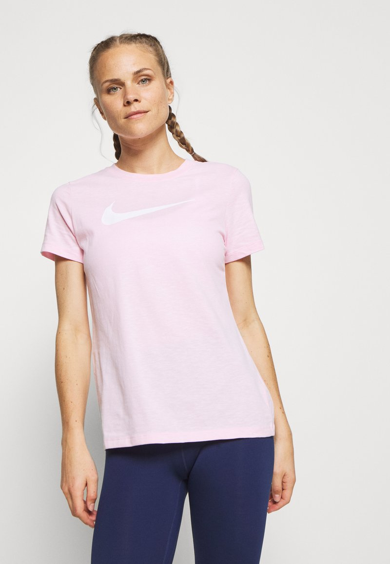 Nike Performance - TEE CREW - Print T-shirt - pink foam
