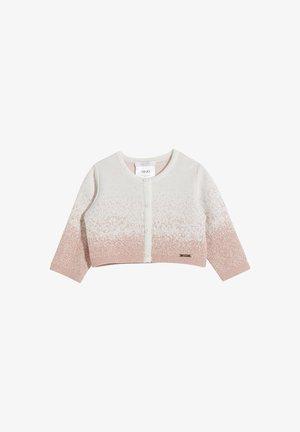 JACQUARD  - Kofta - white/pink
