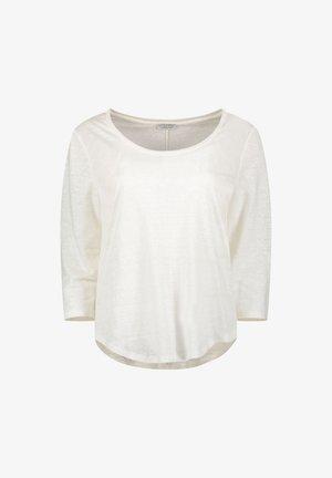 Top sdlouhým rukávem - wool white