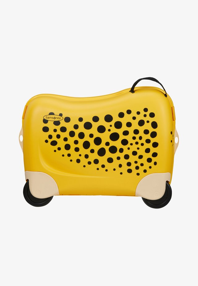 ZUM DRAUFSITZEN - Wheeled suitcase - dark yellow
