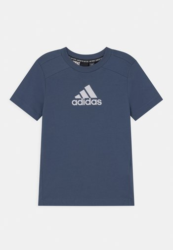 UNISEX - Print T-shirt - creblu/white