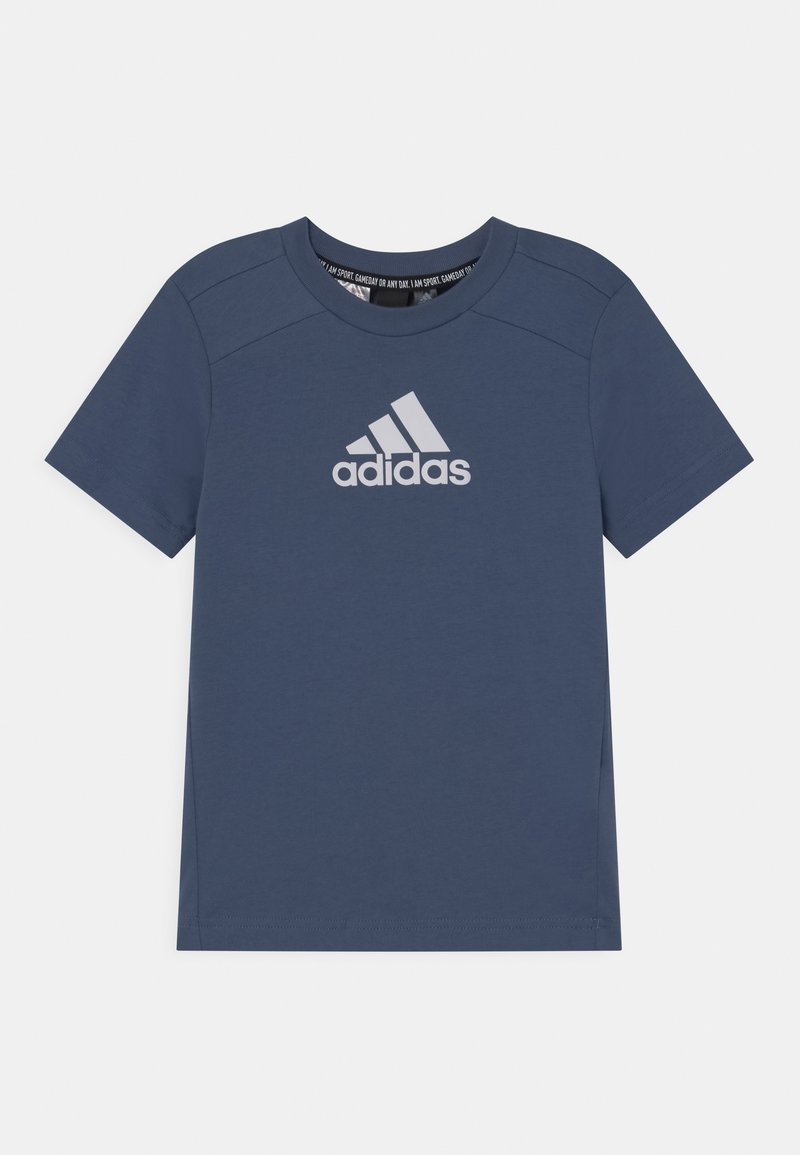 adidas Performance - UNISEX - T-shirt print - creblu/white