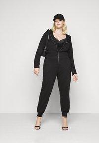 Missguided Plus - HOODED  - Jumpsuit - black - 1