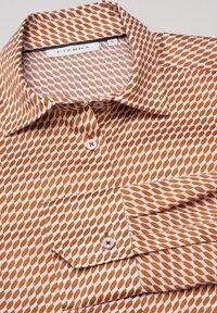 Eterna - MODERN CLASSIC - Button-down blouse - braun/weiß - 4