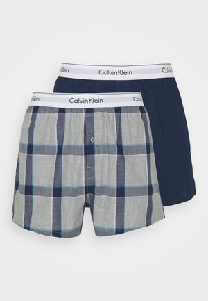 SLIM FIT 2 PACK - Boxer shorts - grey