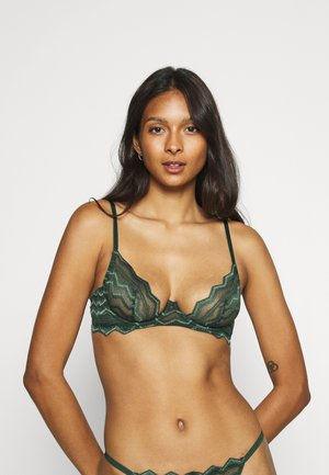 MARGOT PLUNGE BRA - Triangle bra - forest green