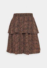 YAS - SKIRT - Mini skirt - mocha mousse - 0