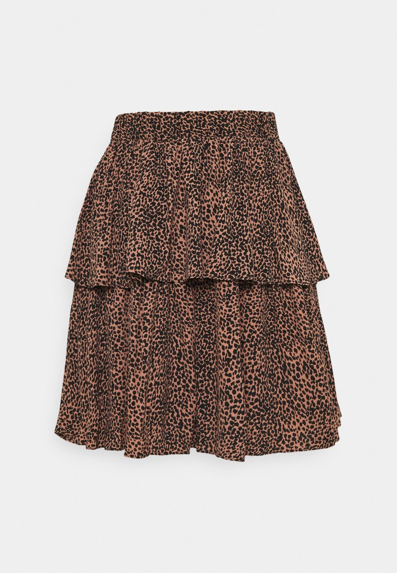 YAS - SKIRT - Mini skirt - mocha mousse