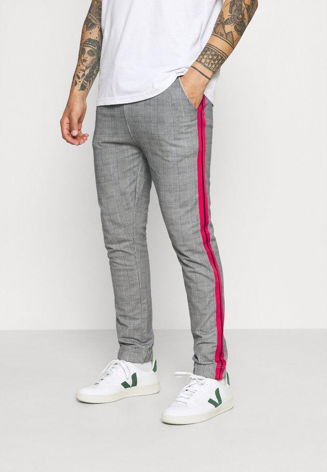 CHECK JOGGER - Spodnie treningowe - grey
