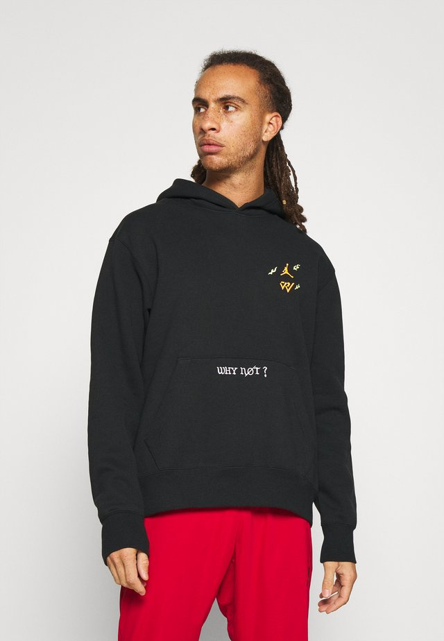 WHY NOT HOODIE - Sweatshirt - black/white