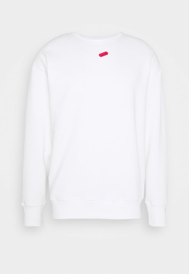 UNISEX NO SIGNAL LONG SLEEVE - Collegepaita - white