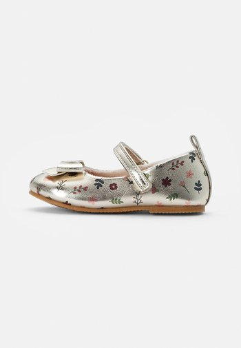 BALLET PUMPS - Ankle strap ballet pumps - gold