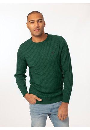 Sweter - botanical green