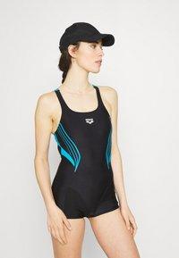Arena - KAORI COMBINAISON - Swimsuit - black/turquoise - 1