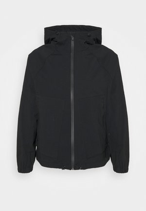 HOODED FLIGHT JACKET - Lehká bunda - black