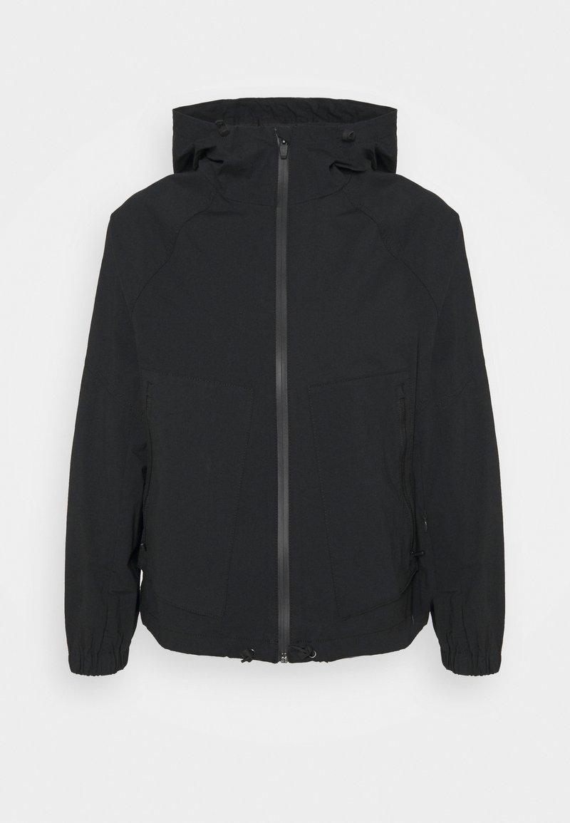 Banana Republic Petite - HOODED FLIGHT JACKET - Summer jacket - black