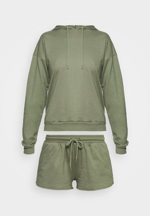 Hooded short set - Pyjama set - khaki